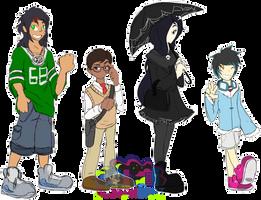 [c] Digimon Homebound tamers by glitchgoat