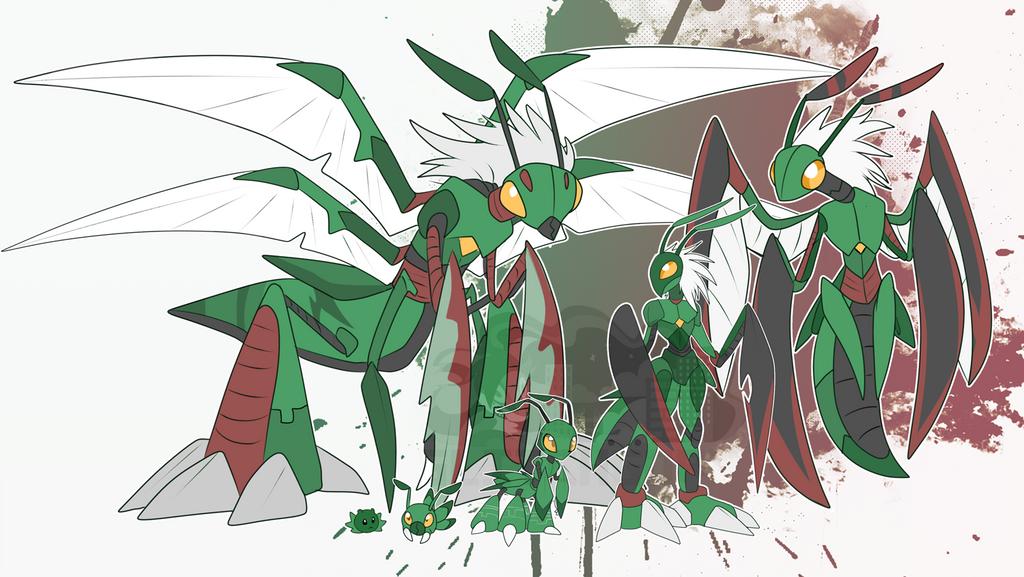 [c] Mantis Digimon by glitchgoat