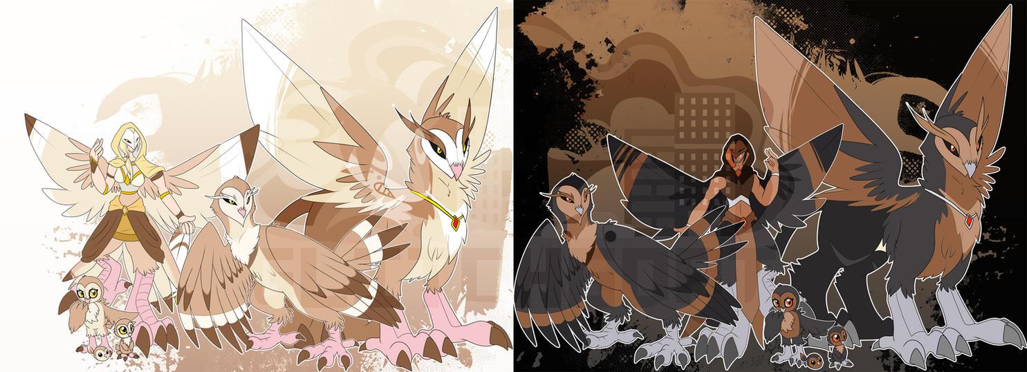 [c] Owl Digimon by glitchgoat