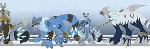 [c] Snow Leopard Digimon by glitchgoat