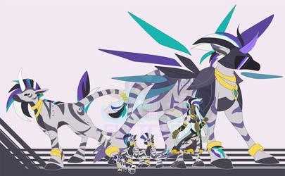 [c] Zebra Digimon by glitchgoat