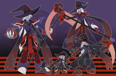 [c] Dark-Type Wizardmon by glitchgoat