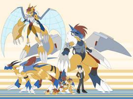 [c] Aviator-y Dragon Digimon by glitchgoat