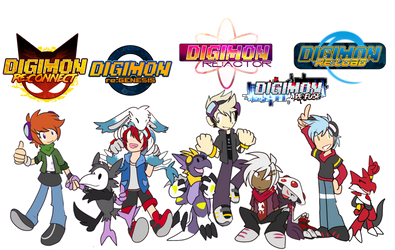 [digimon re:set] leaders by glitchgoat