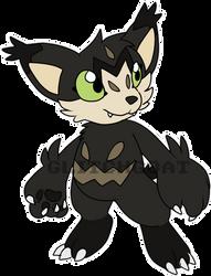 [c] Lynx-y Cat Digimon by glitchgoat