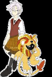 [p] cowardly lion digimon