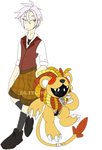 [p] cowardly lion digimon by glitchgoat