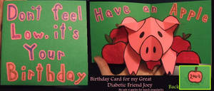 Diabetic Birthday Card