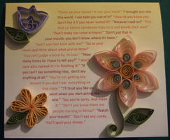 Quilled card for Mum by weirdal