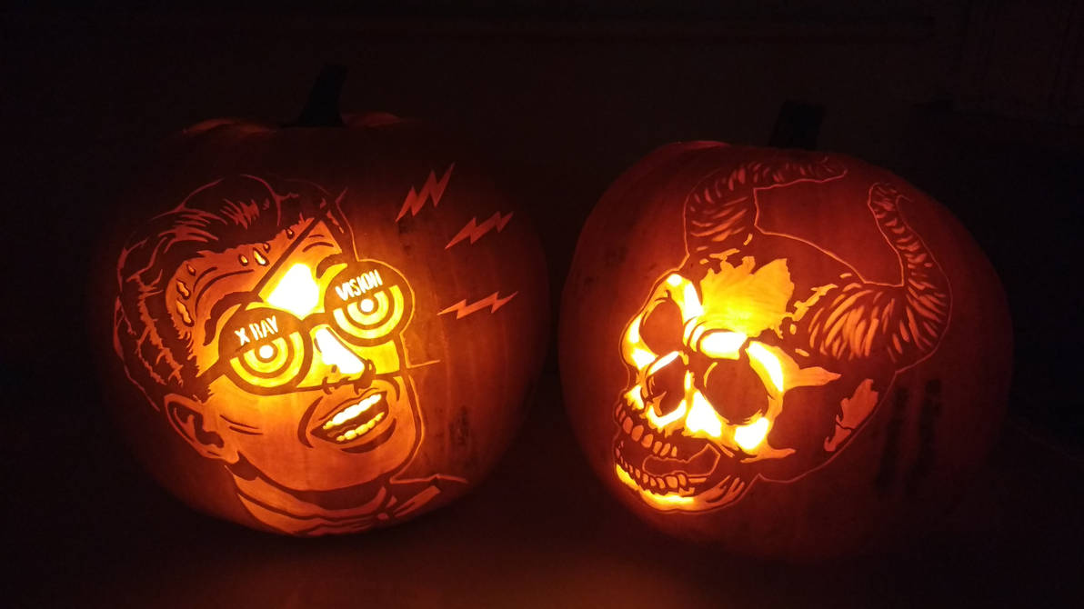 X Ray Vision  pumpkin 2018 by weirdal