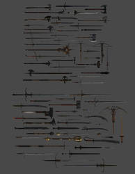 'Chivalry: Medieval Warfare' Weapons XPS ONLY!!! by lezisell