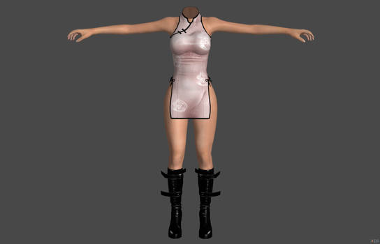 'Oblivion' Hentai China Dress XPS ONLY!!! by lezisell