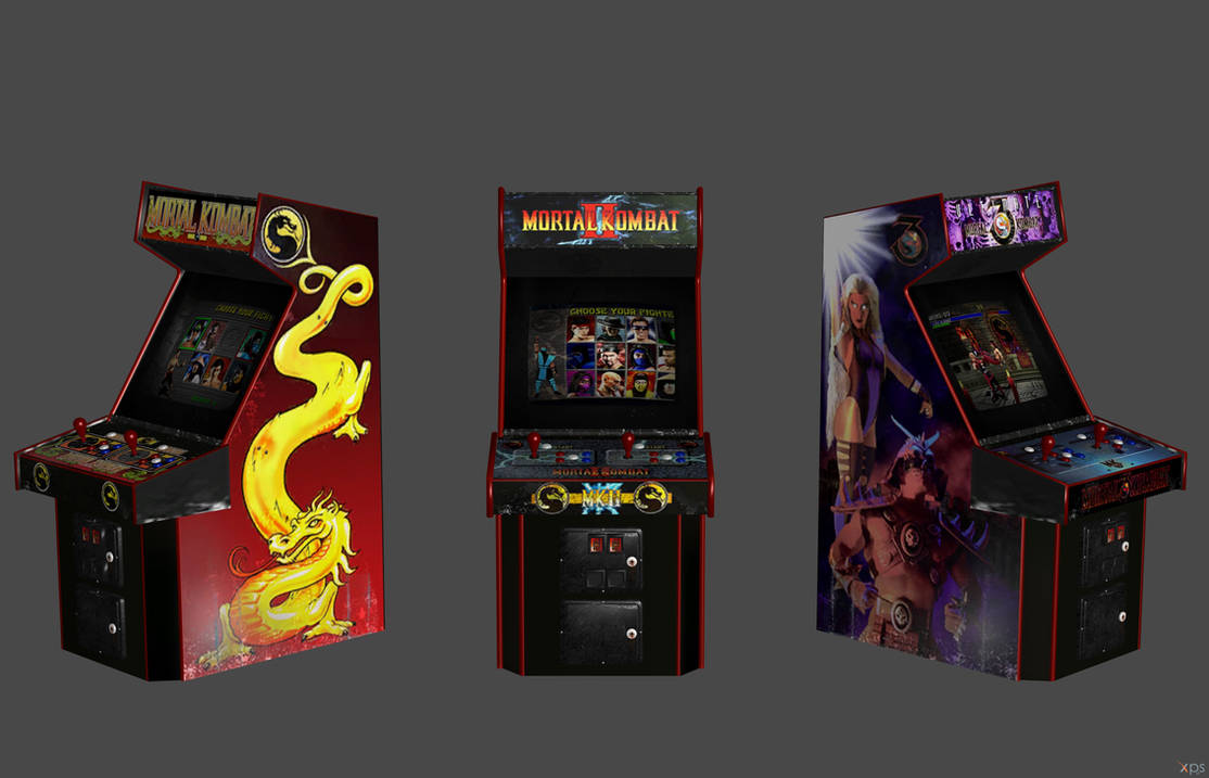 Mortal Kombat' Arcade Cabinets XPS ONLY!!! by lezisell on