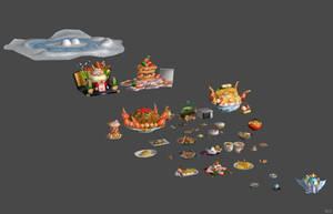 'Dekamori Senran Kagura' Food Pack XPS ONLY!!! by lezisell