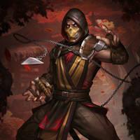 'Mortal Kombat X: Mobile' Scorpion (mk11) XPS ONLY by lezisell