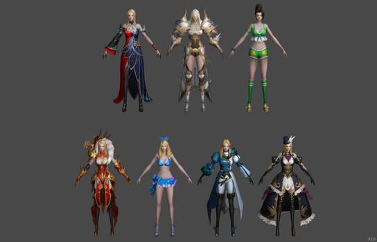 Xnalara's models by yukiyame on DeviantArt