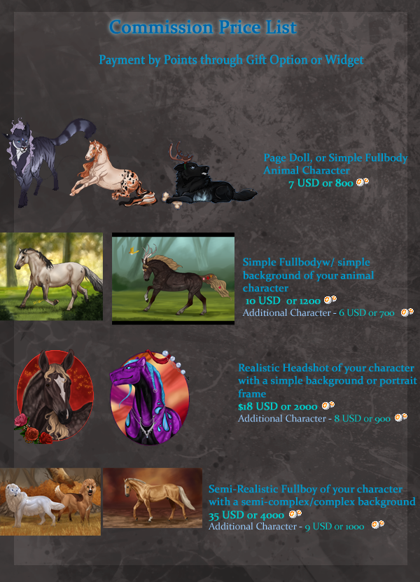 Commission Prices   OPEN   by Rosela