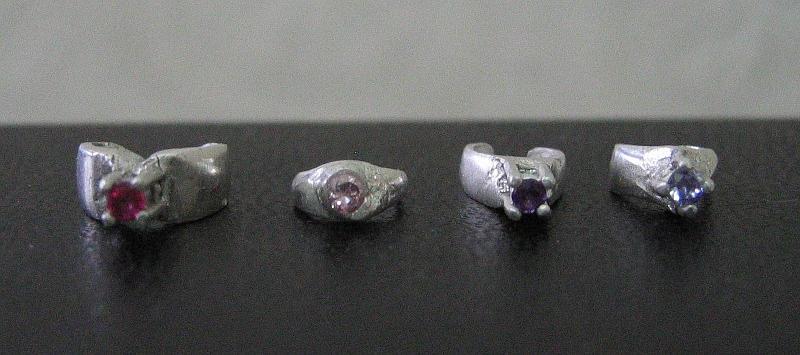 4 silver rings for BJDs