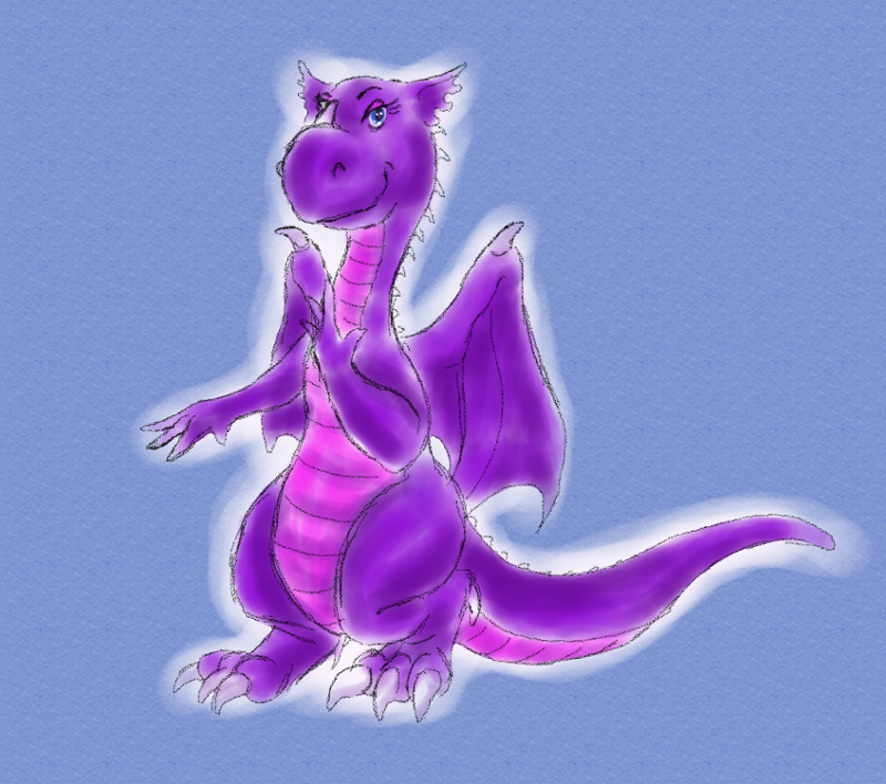 Purple dragon by ArkadyRose