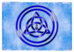 Awen Triqueta - Silver and Blue