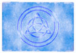 Awen Triqueta - Silver and Blue, Alternate