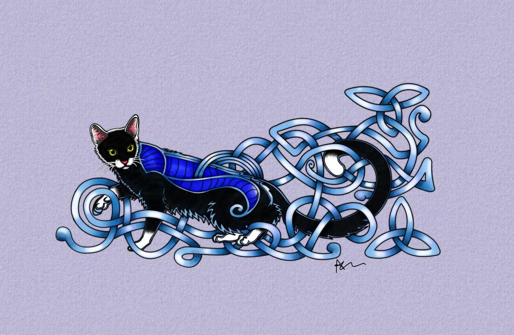 Celtic Cat by ArkadyRose