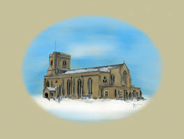 St Marys in Snow