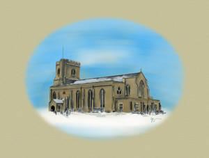 St Marys in Snow