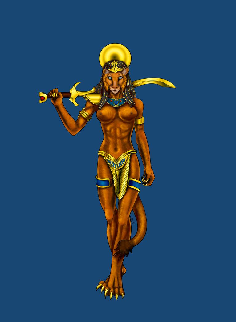 Sekhmet - mature version by ArkadyRose