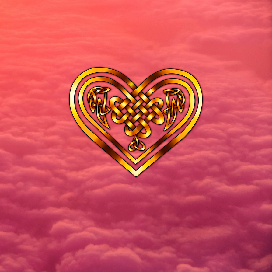 Golden Celtic Heart by RoseGerard