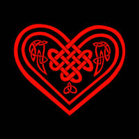 Black and Red Celtic Heart