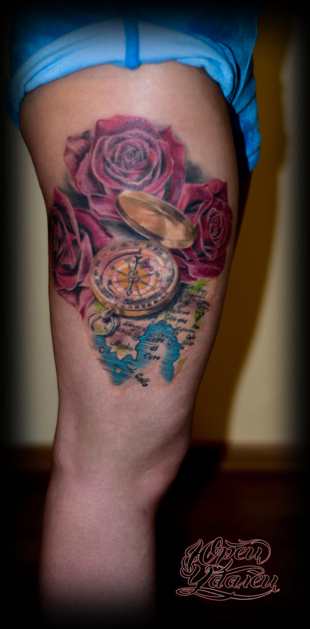 compass rose tattoo by Y-tattoo on DeviantArt