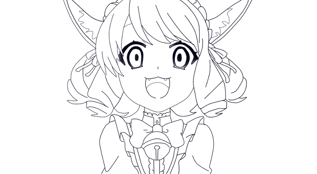 D Line Drawing Game : Cyan lineart by an anime fan on deviantart