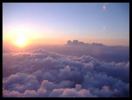Sunset from 37000 ft 1 by AkimaDoll