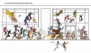 Etalase Depan Comic Cafe