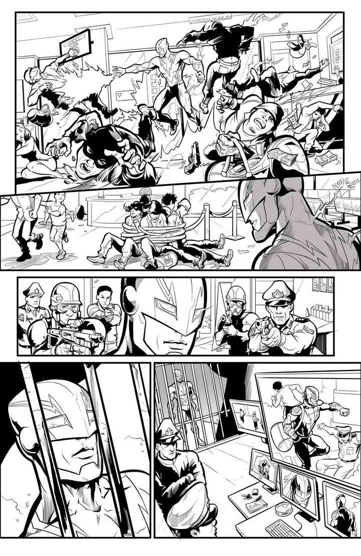Volt Comic strip Prolog Jawara 2 Ink by arivrussanto