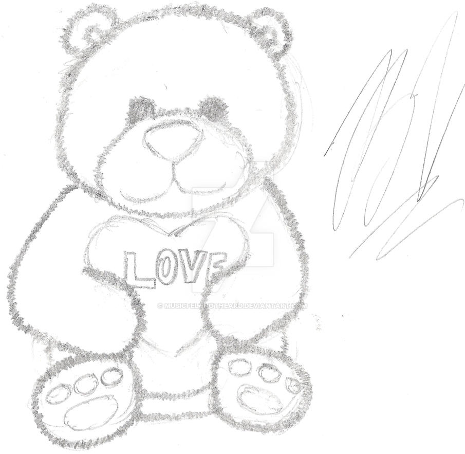 the teddy bear of love by musicfeltnotheard on deviantart