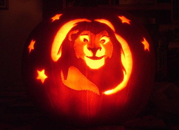 Lion King Pumpkin Pumpkin Carvings and