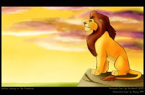 Mufasa Watching-PantheraSonya by LionKingFanClub