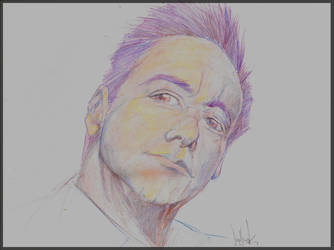 Portrait Man Pencils