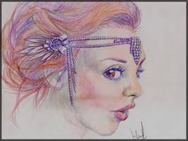 Portrait Woman Pencils