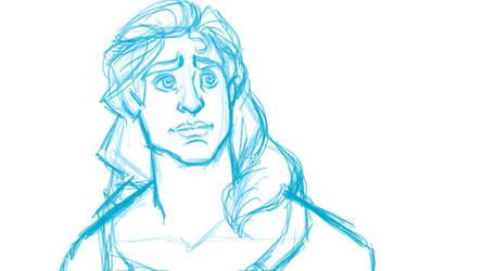 digital sketch Prince Adam