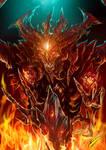 Diablo III fan art: Diablo and Black Soulstone