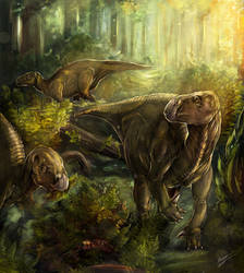 Iguanodon, first Czech dinosaur by Chimerum