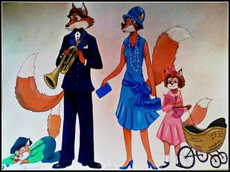 1920's Fox Family by FlapperFoxy