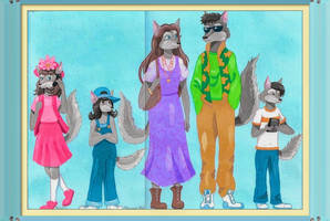 1990's Wolf Family