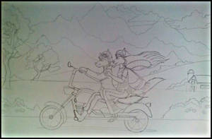 Going Up The Country-Coloring Page