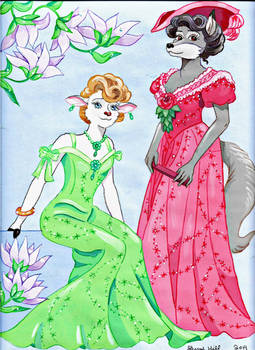 Flora and Dora the Gibson Girls by FlapperFoxy