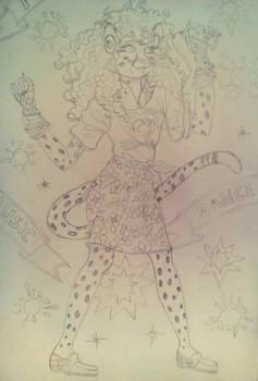 She's A Maniac On The Dancefloor Sketch