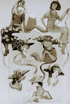 Fancy Hats-Vintage Color
